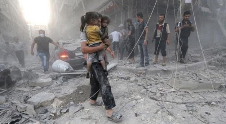 آثار الدمار في حلب السورية - أرشيفية