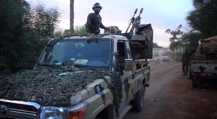 عناصر من الجيش الليبي في قنفودة
