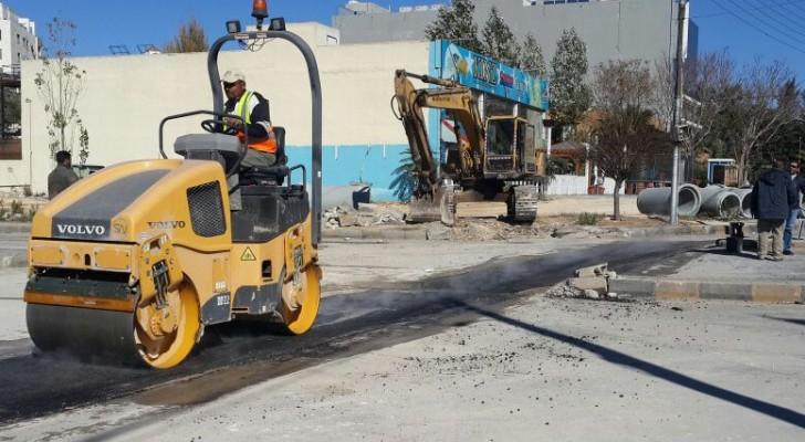امانة عمان تنهي أعمال خطوط تصريف مياه أمطار في عدة مواقع