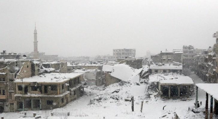دلب تتعرض للقصف الكثيف تحت وابل الزائر الأبيض