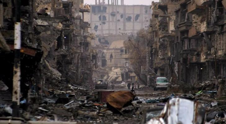 الدمار في احدى مناطق سوريا