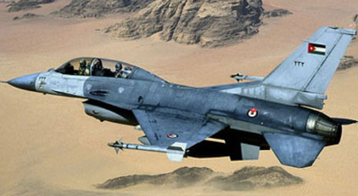 طائرة حربية اردنية
