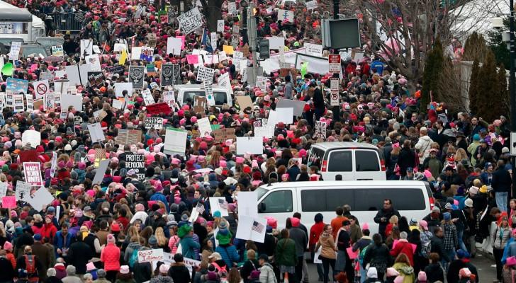 مئات الآلاف يتظاهرون ضد ترامب بأنحاء الولايات المتحدة