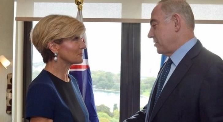 نتنياهو مع وزيرة الخارجية الاسترالية