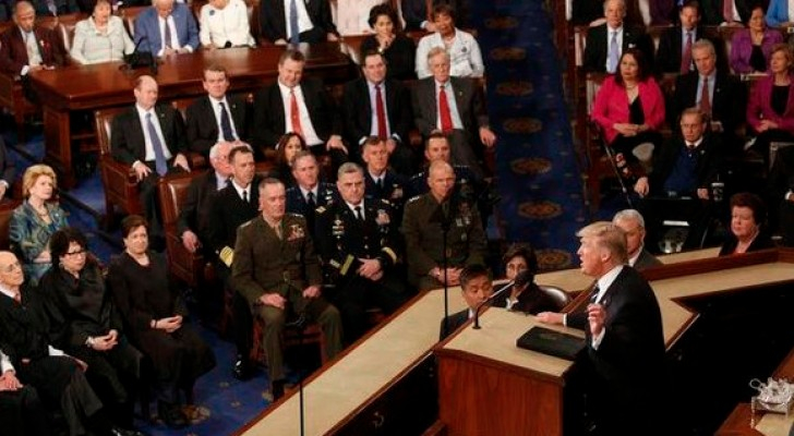 ترامب في أول لقاء أمام الكونغرس