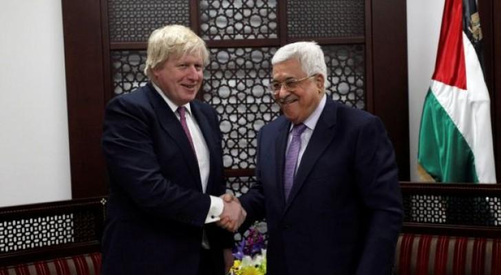جونسون يؤكد التزام بريطانيا حل الدولتين في النزاع الفلسطيني-الإسرائيلي