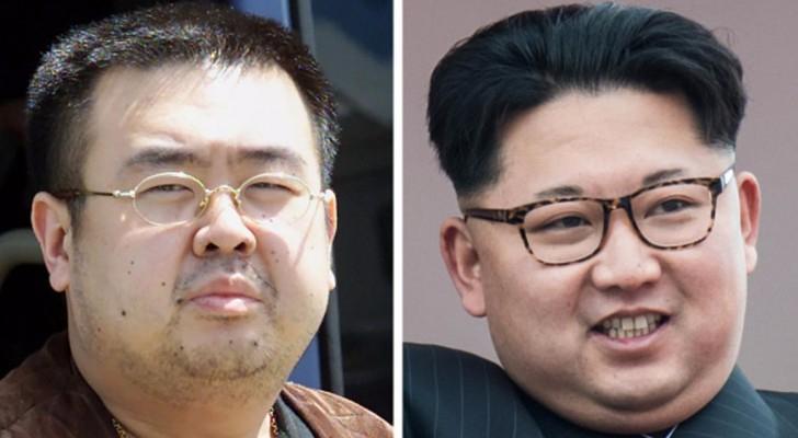 زعيم كوريا الشمالية كيم جونغ أون وأخوه غير الشقيق كيم جونغ