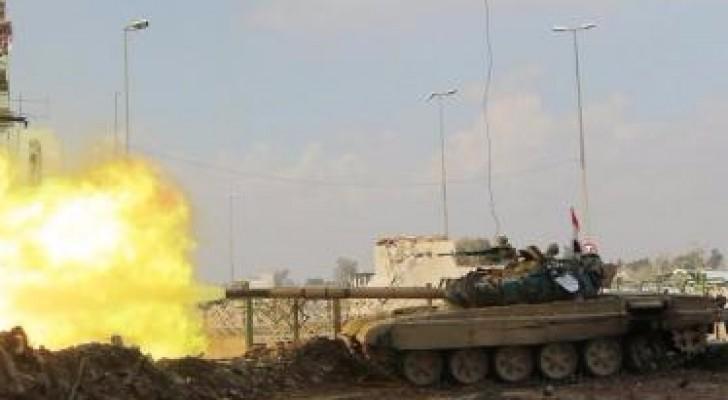 جانب من المعارك في الموصل
