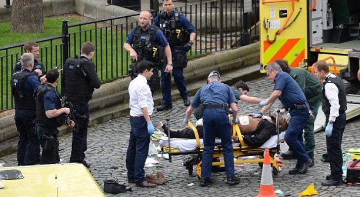 جانب من مكان الهجوم في محيط البرلمان البريطاني