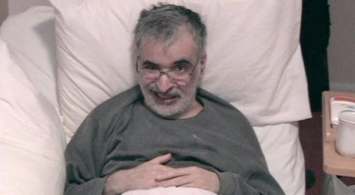 أصيب أوميد عام 2014 بمرض عصبي يسمى الضمور الجهازي المتعدد