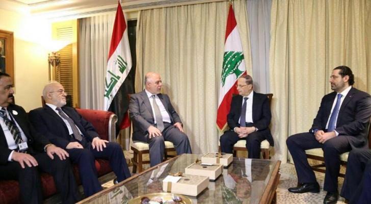 العبادي يلتقي الرئيس اللبناني ميشال عون على هامش اعمال القمة العربية