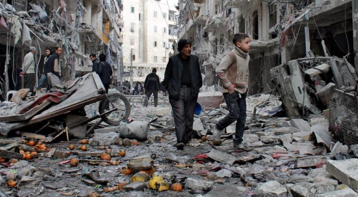 من أثار الدمار في سوريا
