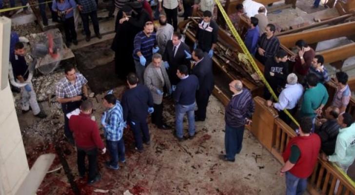 جانب من التفجير الذي استهدف كنيسة طنطا