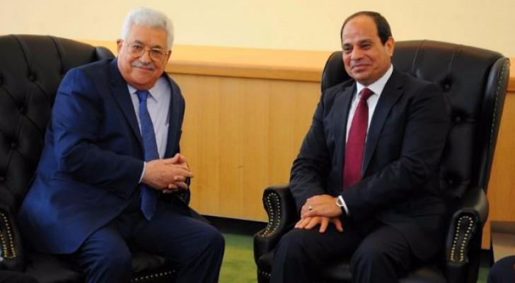 الرئيس المصري والرئيس الفلسطيني