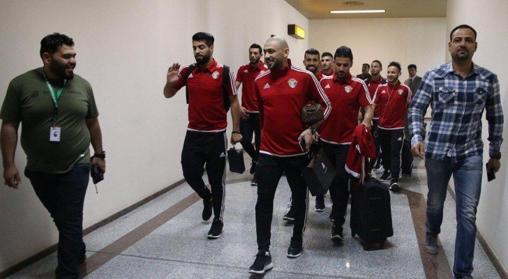 وصول المنتخب الوطني إلى العراق