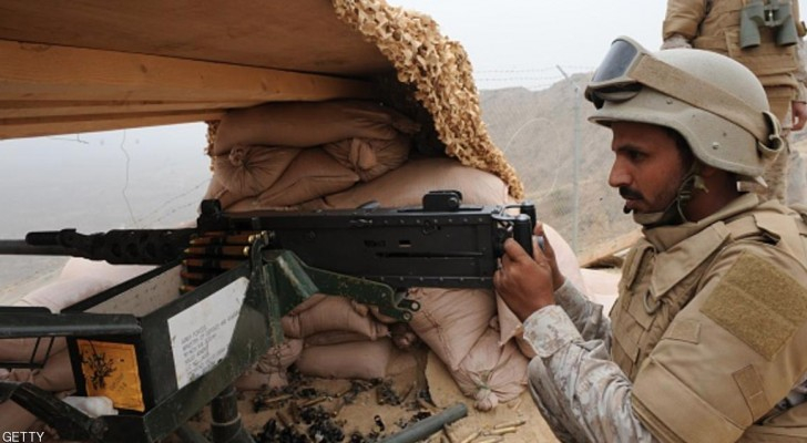 جندي سعودي على الحدود مع اليمن