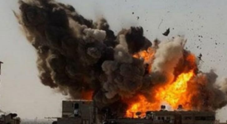 ارشيفية لقصف في الموصل