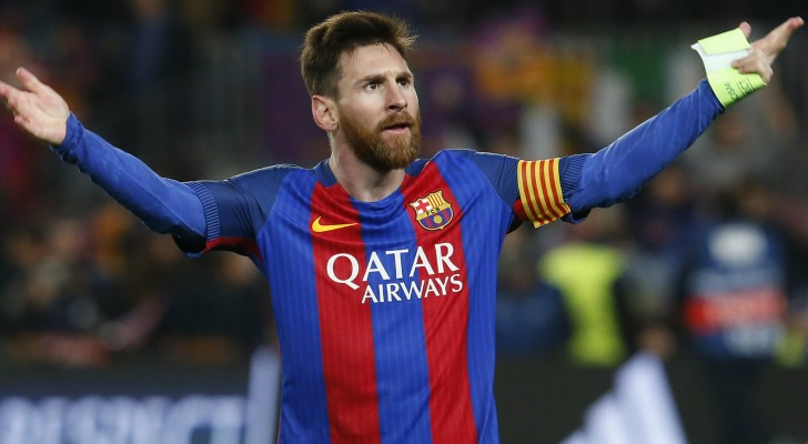 نجم نادي برشلونة الإسباني ليونيل ميسي