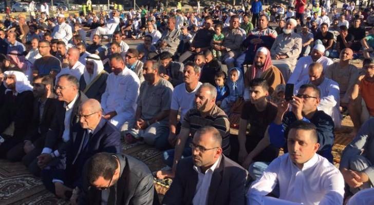 صلاة العيد في المدينة الرياضية في العاصمة عمان