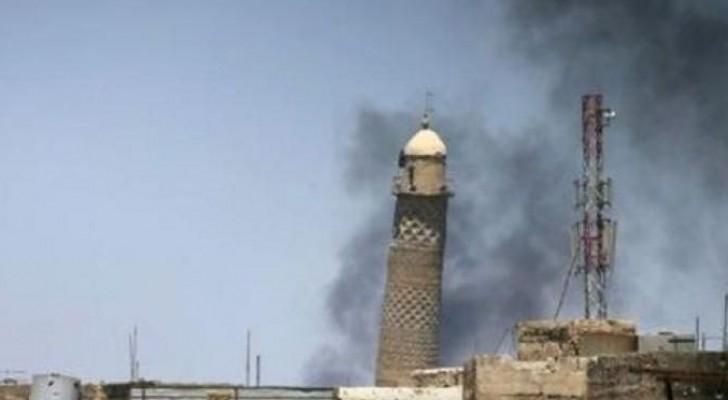 مسجد النوري بعد تفجيره من قبل داعش مؤخرا