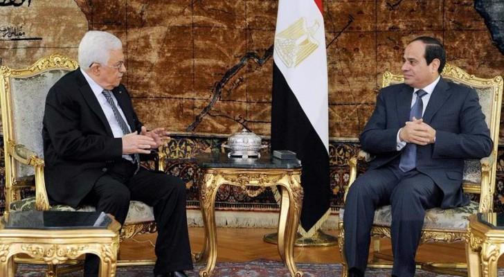 الر\ئيس المصري والرئيس الفلسطيني