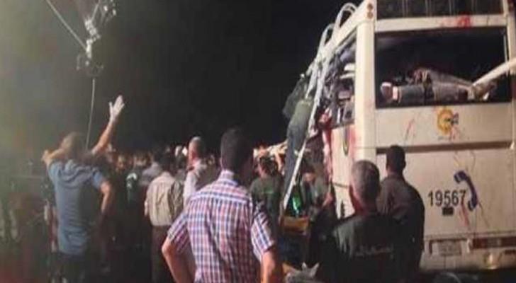 الصورة للحادث من وسائل اعلام مصرية