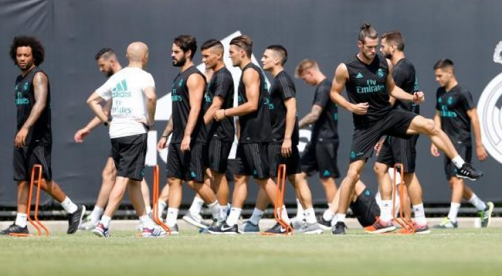 من تدريبات الفريق الاسباني