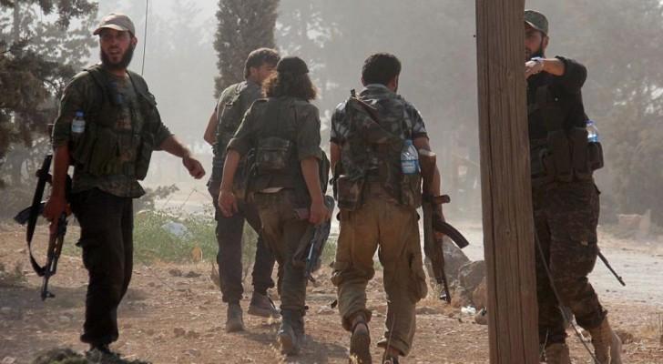 مقاتلون في جبهة النصرة خلال المعارك - أرشيفية