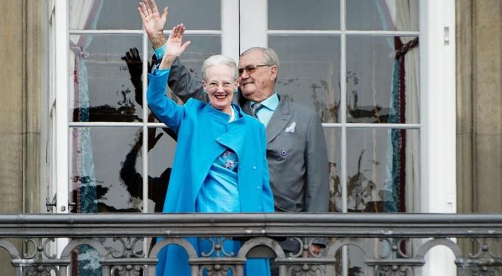 الأمير هنريك وزوجته ملكة الدنمارك مارغريت (أرشيف)