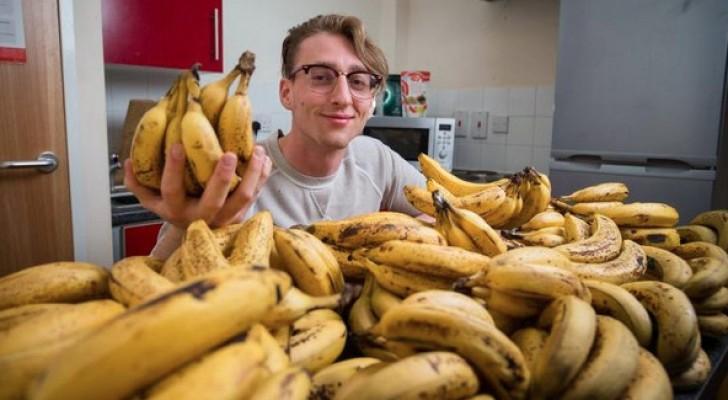 طالب بريطاني أنه يتناول ما قدره 150 قطعة موز كل أسبوع