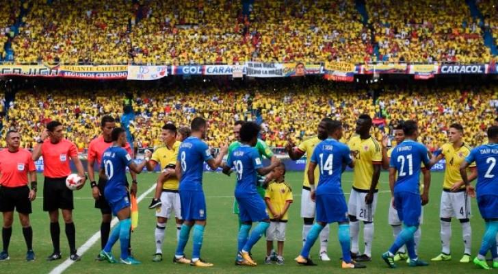 تعادل للبرازيل مع كولومبيا