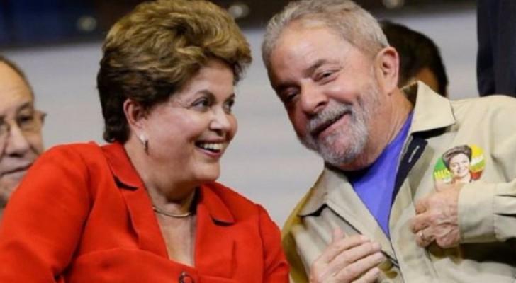 الرئيسين البرازيليين السابقين لويس ايناسيو لولا دا سيلفا وديلما روسيف