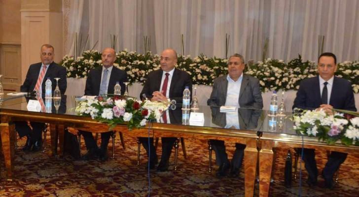 جانب من اجتماع اللجنة المصرية المعنية بليبيا فى القاهرة