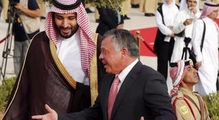 جلالة الملك عبدالله الثاني وولي العهد السعودي الامير محمد بن سلمان