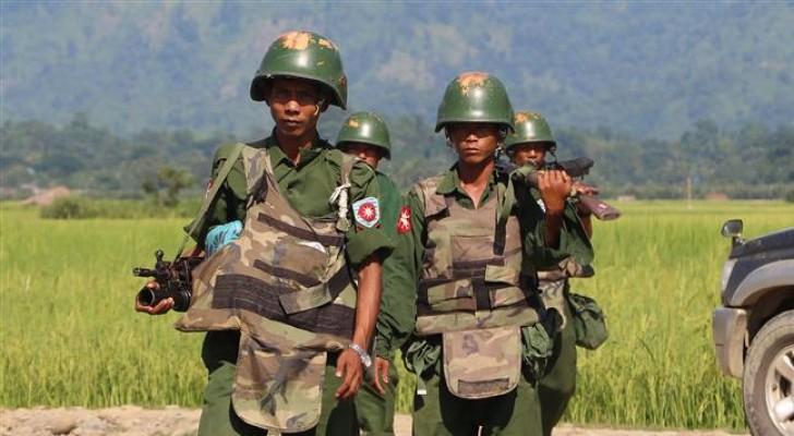 عناصر من الجيش البورمي - ارشيفية