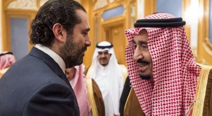 الحريري يظهر في مراسم استقبال الملك سلمان بالرياض
