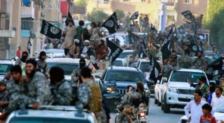 عناصر داعش في الرقة قبل سقوطها في أيدي القوات السورية