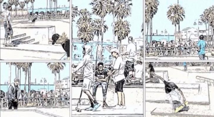 ستوري بورد تطبيق ممتع لاستخراج الصور عشوائيا من الفيديو وتحويلها إلى ما يشبه القصص المصورة (غوغل)