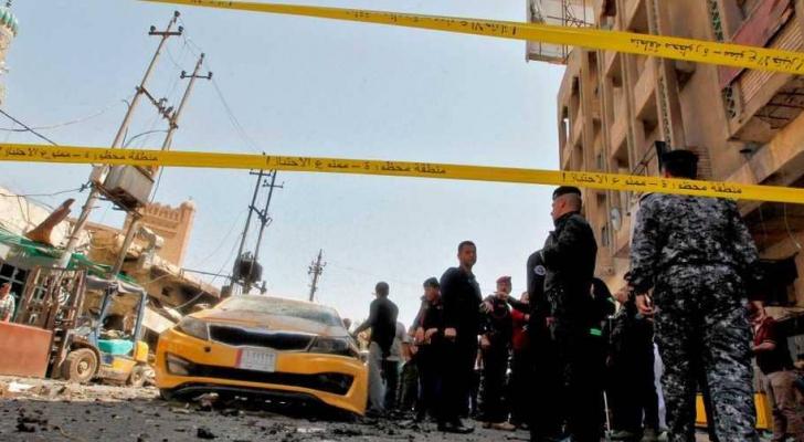 صورة أرشيفية لموقع تفجير سابق في بغداد