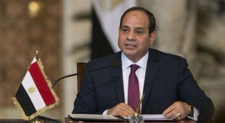 السيسي متحدثا في مؤتمر حكاية وطن