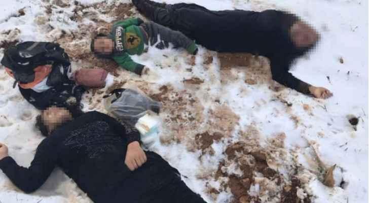 صورة نشرتها وسائل اعلام لجثث اللاجئين