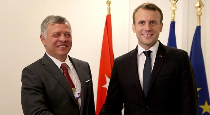 الملك والرئيس الفرنسي