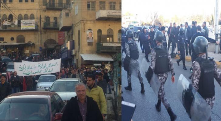 الدوار الرابع عمان / مسيرة السلط