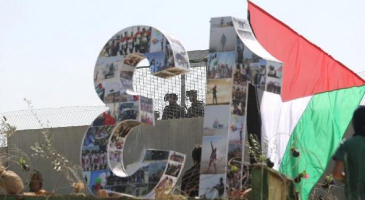 جماهير بلعين تحي الذكرى ال 13 لانطلاق المقاومة الشعبية
