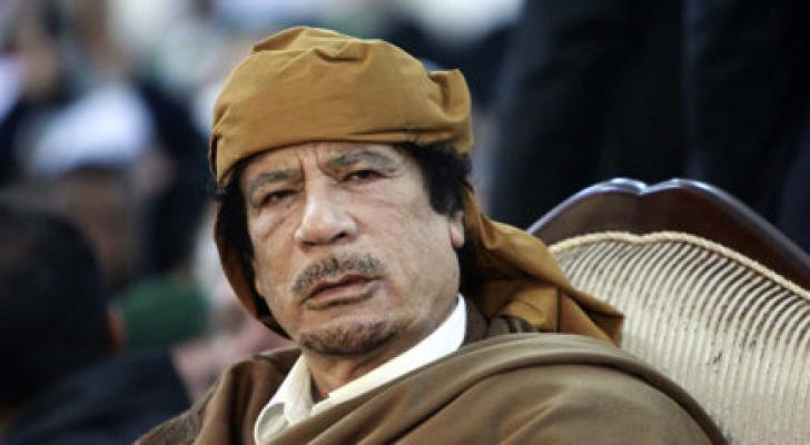 الرئيس الليبي معمر القذافي