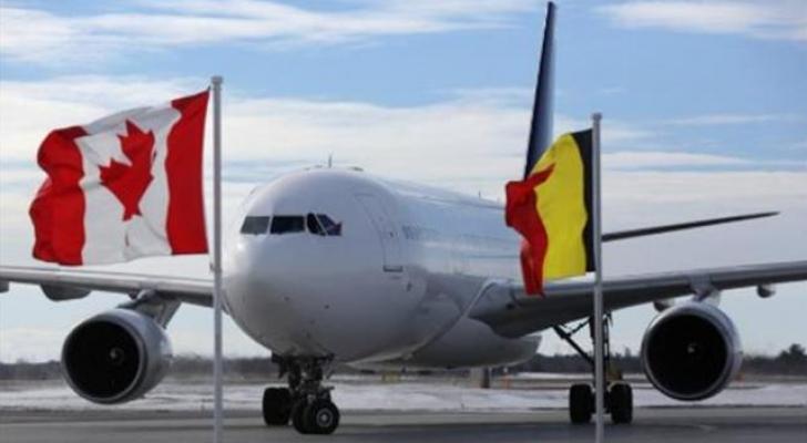علم ألماني في استقبال العاهل البلجيكي في كندا