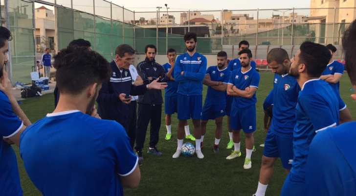 الازرق الكويتي يصل الى عمان لملاقاة النشامى