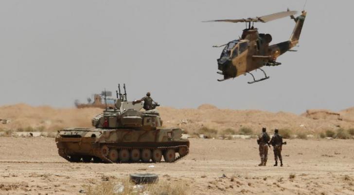 الجيش الأردني على الحدود مع العراق (ارشيف)