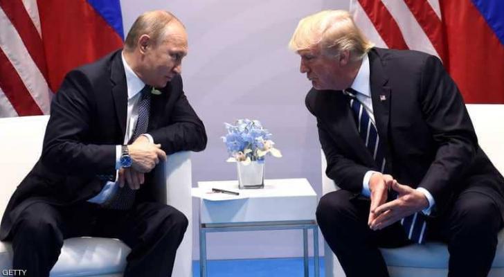 الرئيسان الأميركي دونالد ترمب والروسي فلاديمير بوتن