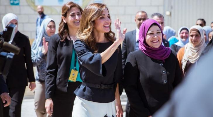 جانب من زيارة جلالة الملكة رانيا